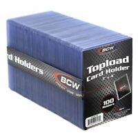New 100 BCW 3x4 Standard Toploader Card Holders (1 Pack Of 100 Toploaders)