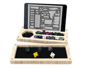 Dungeons Box - Natural Bamboo Original D&D Dice Vault - Dice Box Tray - Made USA