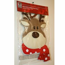 Home Accents NEW Handcrafted Fabric Reindeer Christmas Holiday Door Decor
