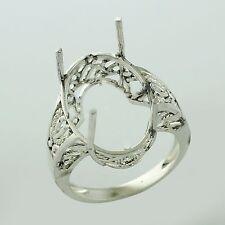 Semi Mount 13x18 MM Oval Shape Ring 925 Sterling Silver Party Wear Gift Jewelry
