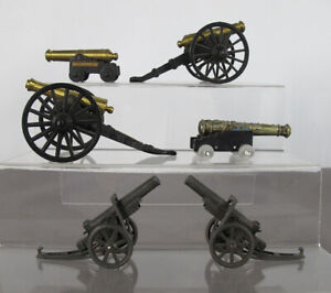 Lot 6 Toy Cannons MF Co / Britains / Tootsietoy Yorktown VA Gettysburg PA yqz