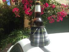 Dress Gordon Tartan Plaid Beer Bottle Koozie Kilt and Sporran Stocking Filler