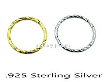 1pc. Swirl Twist Bendable .925 Sterling Silver Nose Hoop