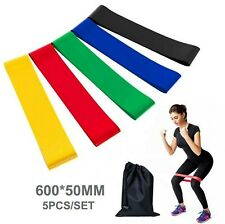 5pc Hip Resistance Rubber Band Fitness Loop Elastic Legs Exercise Bands Glute