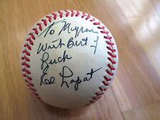 ED LOPAT Signed &Personalized Vintage Chas Feeney NL Baseball-SGC Authenticated