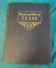 Bench and Bar of Texas Volume 1 1937 Pictorial & Bio. Directory Horace Evans