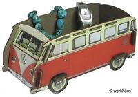 VW Bus T1 - Minibox / Ordnungsbox - Samba Rot - NEU
