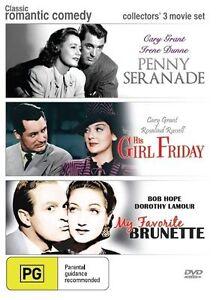 PENNY SERANADE / HIS GIRL FRIDAY/ MY FAVORITE BRUNETTE (REGION 4 DVD) NEW SEALED