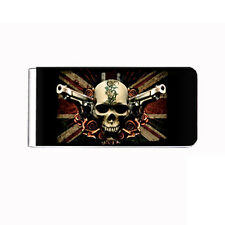 Metal Money Clip Cash Bills Credit Card Metal Holder Skull D 2