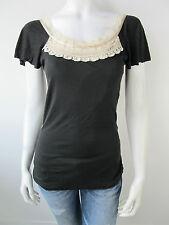 Fornarina Damen T-Shirt Top Lily Black Stretch Neu M