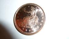 Collectors One Avdp Ounce .999 Pure Fine Copper Trade Dollar Coin