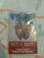 Vintage Indygo Junction Pieces & Patches Sewing Pattern Folk Art Vest DIY 1993