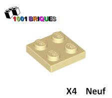 Lego 3022 x4 Plate 2 x 2 Tan