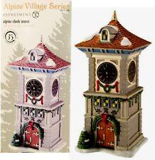Dept. 56 Alpine Clock Tower Retired 2011 Alpine 4020170 New