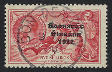 IRELAND:1935 Irish Free State opt on GB re-engraved 5/- bt rose-red SG 100 used
