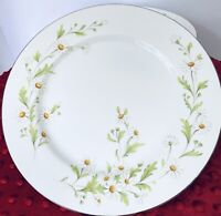 "VINTAGE FINE CHINA OF JAPAN ""CHARLENE"" #1012 Daisy Pattern 7 Dinner Plates EUC"
