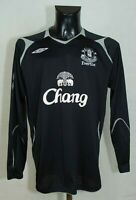 EVERTON FOOTBALL SHIRT LONG SLEEVE 2004/2005 UMBRO BLACK SIZE XL GC