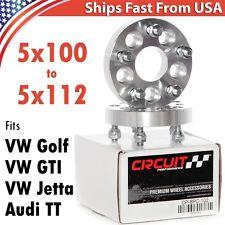 2pc 25mm Wheel Adapters 5x100 Cars to 5x112 Wheels for GTI Golf Jetta MK4  TT