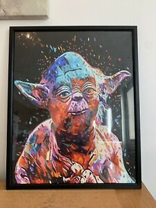 hand painted Master Yoda Picture