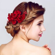 Women Bride Hair Comb Crystal Rhinestone Flower Wedding Bridal Hairpin Jewelry