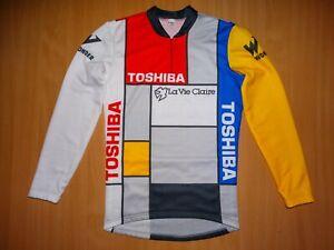 * La Vie Claire Toshiba Wonder Italian L/S cycling jersey LONG bicycle tour giro