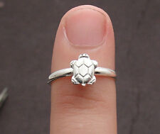 Adjustable Nautical Playing Turtle Toe Ring Solid Real 925 Sterling Silver