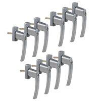 10 Stück Fenstergriff Abschließbarer mit je 2 Schlüsseln silber FGS 100 OLYMPIA