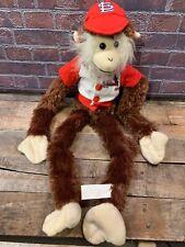 """St Louis CARDINALS Plush Monkey 22"""" Stuffed Animal Toy Baseball"""