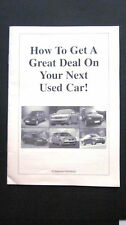 HOW TO GET A GREAT DEAL ON YOUR NEXT USED CAR