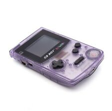 GB Boy a colori retroilluminato NINTENDO GAME BOY COLOR CLONE Console Nuovo Cristallo Viola
