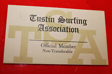 Vintage Surfing 2x3in. Tsa Tustin Surfing Association Membership Card