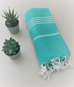 TROY Authentic Turkish Colorful Towel Peshtemal Bath, Beach, Pool, Spa, Beach
