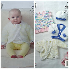 Knitting pattern baby dress, Bolero, Cappello & Cardigan COCCOLE KING COLE 4816