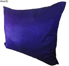 Large Oblong cushion cover 80x60 cm Blue Pillow case solid Faux Silk