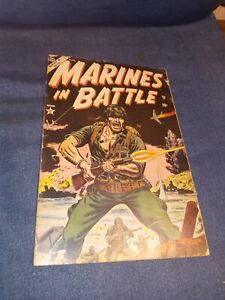 Marines In Battle #1 Atlas Comics 1954 Golden Age Russ Heath War Cover Iwo Jima