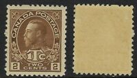 Canada Scott MR4: 2c+1c Brown King George V Admiral War Tax, VF-LH