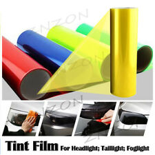 "Gold Yellow 12""X48"" Headlight Fog Light Taillight Tint Vinyl Film Sheet Sticker"