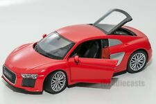 Audi R8 V10 2016 Red, Welly 24065, scale 1:24, model adult gift for him