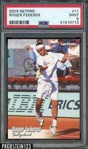 2003 Netpro Tennis #11 Roger Federer RC Rookie PSA 9 MINT