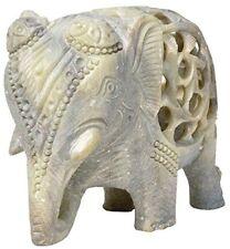 Nirvana-Class 4 Inch Indian Art Elephant Sculpture Wealth Animals Figurine