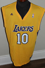NEW NBA LOS ANGELES LAKERS #10 STEVE NASH JERSEY BY ADIDAS MSRP $80