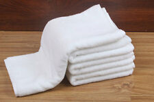 2x Luxury Hand Towels 100 Cotton Extra Large White 5 Star Hotel Grade 46x80cm