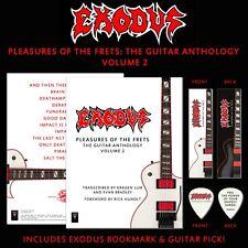 "Exodus ""Pleasures of the Frets Vol. 2"" Deluxe Edition Tab w Bookmark + Pick Set!"