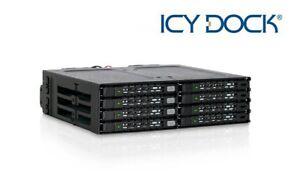 "New ICY Dock MB998IP-B 8 Bay 2.5"" SATA SAS SSD HDD Hard Drive Mobile Rack"