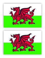 SelfAdh.WELSH FLAG  stickers/decals (SET OF 2) WAT/PROOF.Racecar/Mini/Boats