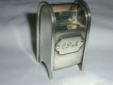 GREAT TIFFANY & CO AMERICAN STERLING SILVER MAILBOX FORM STAMP BOX HOLDER CASE!