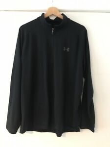 Under Armour 1/4 Zip Top Black Large 23 Inch Pit To Pit