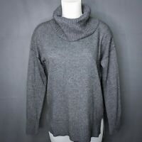 Bartolini Womens Sweater Small Gray Cashmere Wool Blend Turtleneck Pullover NEW