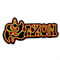 Saxon Patch Woven Embroidered Wheels Steel Nwobhm Back Iron Metal Jacket Patches