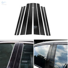 Real Carbon Fiber Window B C Pillars Cover Car Body Trim For BMW E46 E90 F30 F10